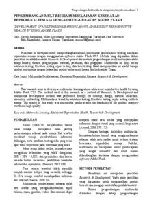 Jurnal kespro remaja pdf