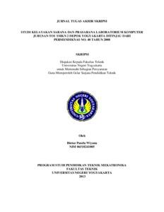 Studi Kelayakan Sarana Dan Prasarana Laboratorium Komputer Jurusan