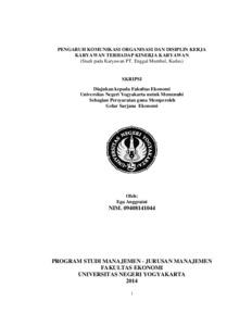 Skripsi Komunikasi Organisasi