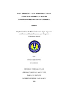 Audit Manajemen Untuk Menilai Efektivitas Atas Fungsi Sumber Daya Manusia Pada Lottemart Wholesale Yogyakarta Lumbung Pustaka Uny