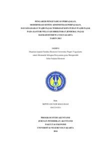 Pengaruh Pengetahuan Perpajakan Modernisasi Sistem Administrasi Perpajakan Dan Kesadaran Wajib Pajak Terhadap Kepatuhan Wajib Pajak Pada Kantor Wilayah Direktorat Jenderal Pajak Daerah Istimewa Yogyakarta Tahun 2013 Lumbung Pustaka Uny
