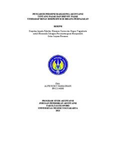 Contoh Soal Dan Materi Pelajaran 2 Contoh Skripsi Akuntansi Pajak