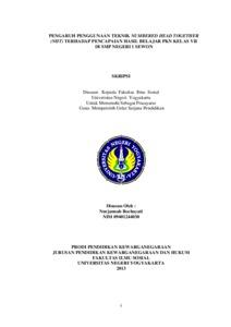 thesis teknik belajar mempengaruhi pencapaian