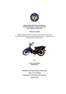 rekondisi sistem kelistrikan sepeda motor yamaha crypton tipe t105(e) tahun  1997