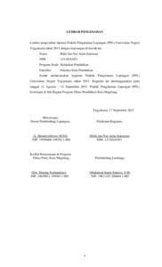Laporan Kegiatan Ppl Sub Bagian Program Dinas Pendidikan Kota
