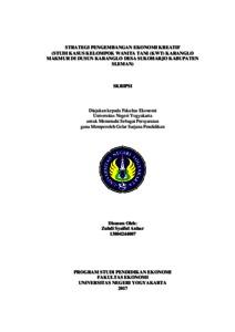 Strategi Pengembangan Ekonomi Kreatif Studi Kasus Kelompok Wanita Tani Kwt Karanglo Makmur Di Dusun Karanglo Desa Sukoharjo Kabupaten Sleman Lumbung Pustaka Uny