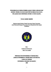 Pengembangan Media Pembelajaran Video Animasi Stop Motion Pembuatan Kue Dari Tepung Beras Pada Mata Pelajaran Kue Indonesia Di Smk N 4 Yogyakarta Lumbung Pustaka Uny