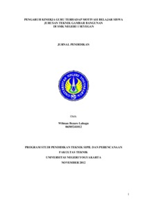thesis kinerja Kepala sekolah, kompetensi guru dan motivasi kerja guru terhadap kinerja guru smp negeri di kecamatan turi sleman s2 thesis, uny.