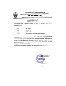 Contoh Surat Izin Untuk Observasi Ke Sekolah