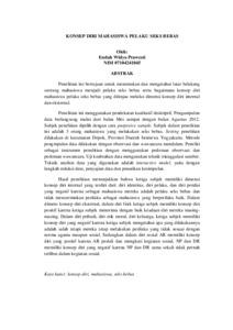 Konsep Diri Mahasiswa Pelaku Seks Bebas Lumbung Pustaka Uny